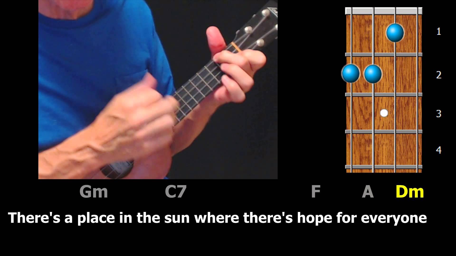 A Place In The Sun Ukulele Chords Lyrics Ezfolk
